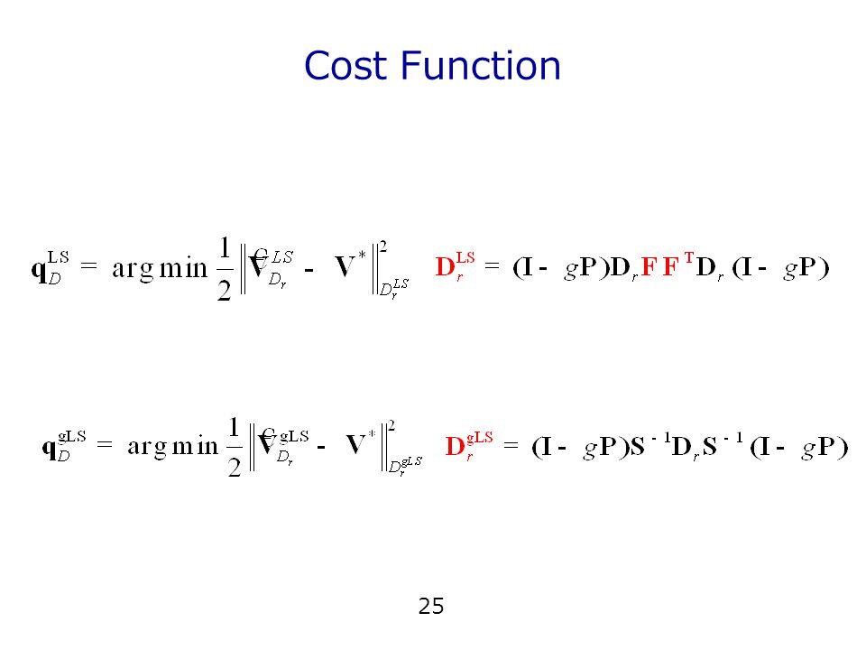 Cost Function 25