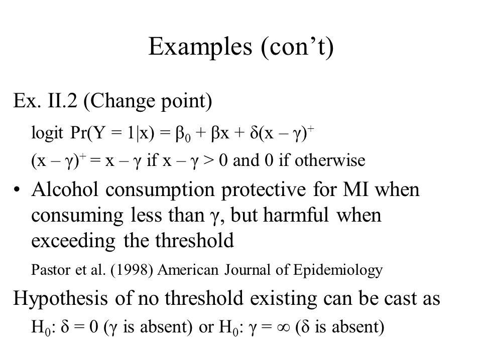 Examples (con't) Ex.