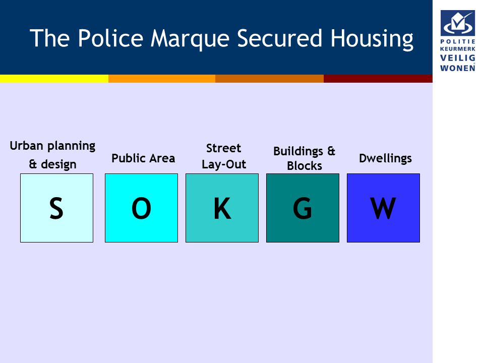 The Police Marque Secured Housing SOKGW Urban planning & design Public Area Street Lay-Out Buildings & Blocks Dwellings
