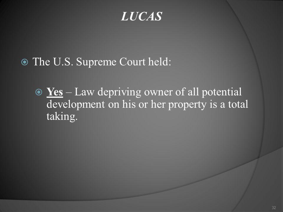 LUCAS  The U.S.