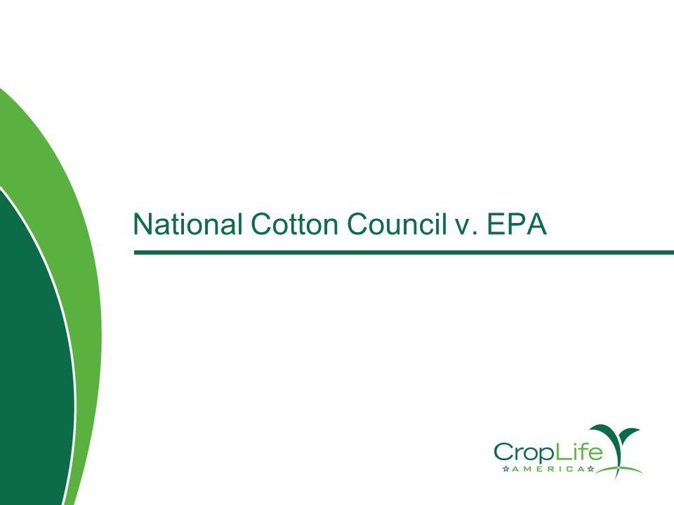 National Cotton Council v. EPA