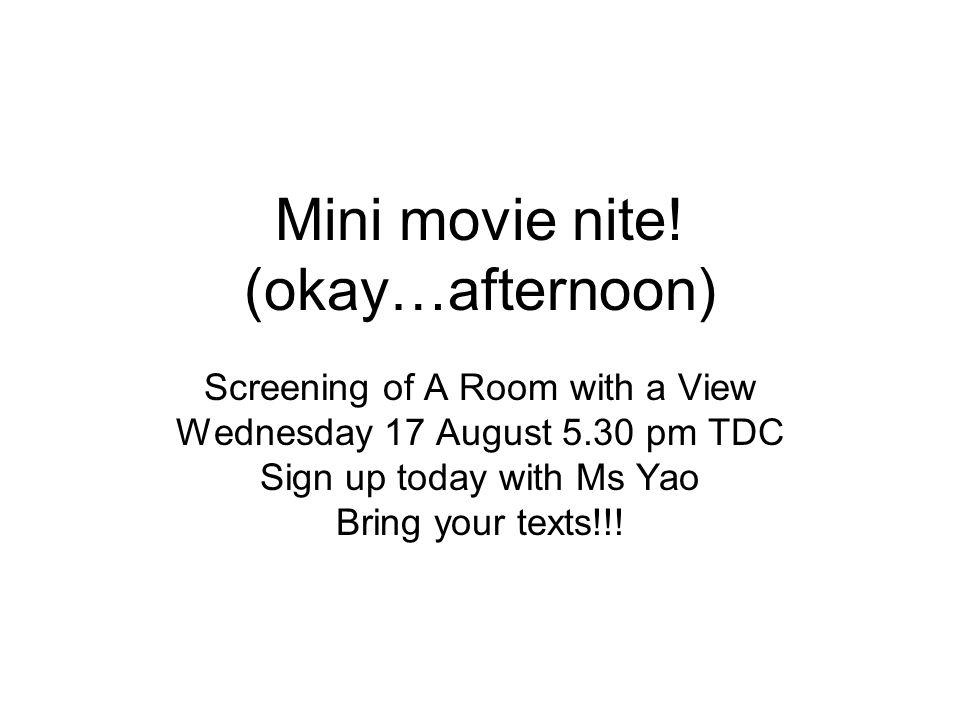 Mini movie nite.