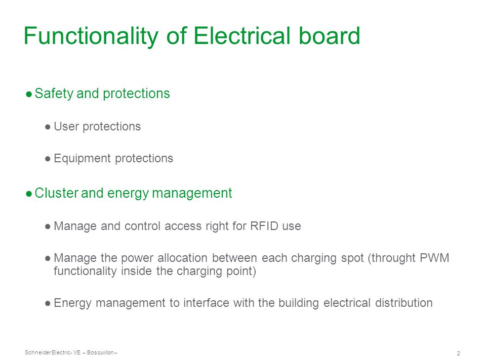 Schneider Electric 3 - VE – Bosquillon – Example