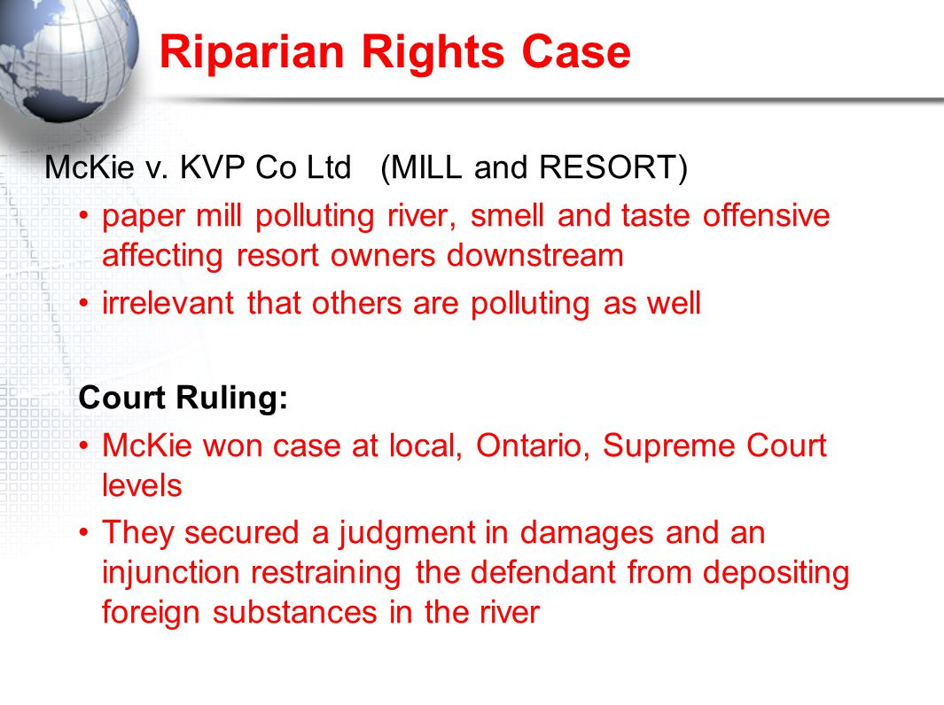 Riparian Rights Case McKie v.
