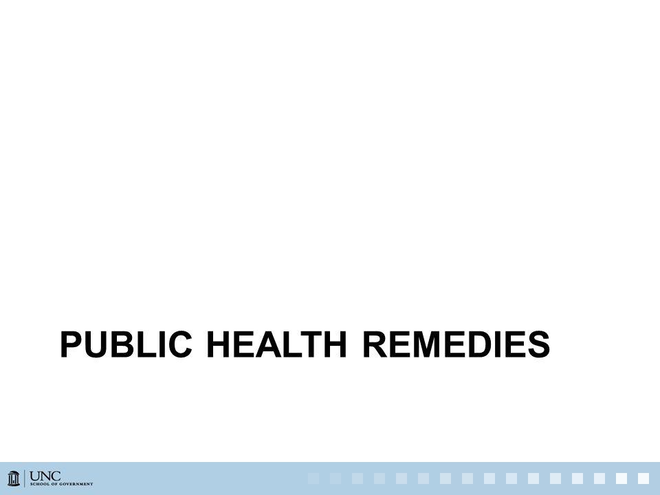 PUBLIC HEALTH REMEDIES