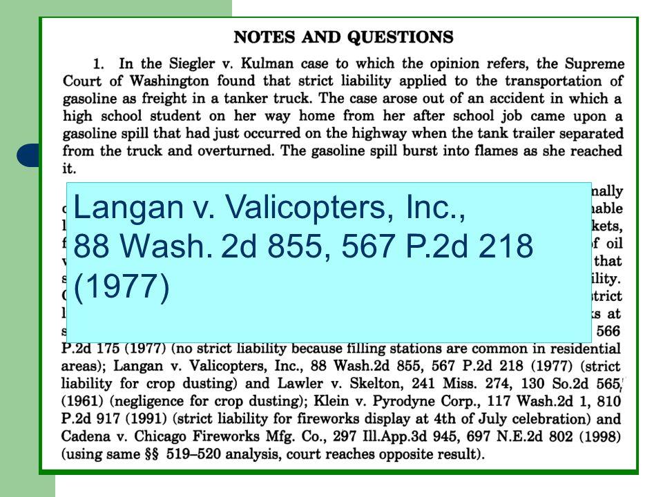 Langan v. Valicopters, Inc., 88 Wash. 2d 855, 567 P.2d 218 (1977)