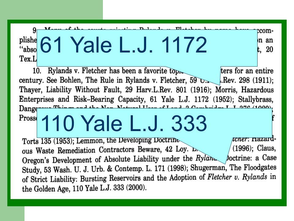 ). 61 Yale L.J. 1172 110 Yale L.J. 333