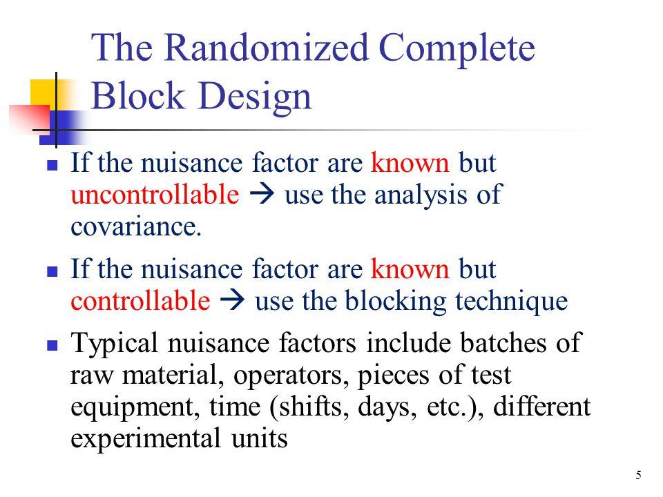 26 The Randomized Complete Block Design– Example—Minitab Vascular-Graft.MTW