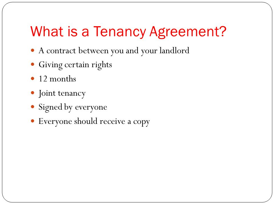 What is a Tenancy Agreement.