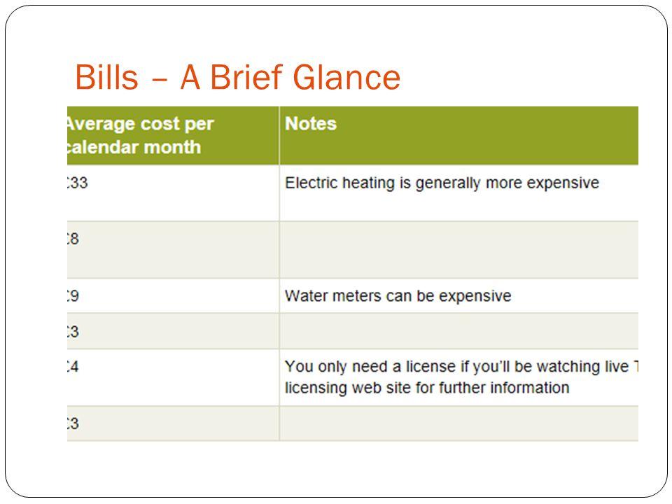 Bills – A Brief Glance