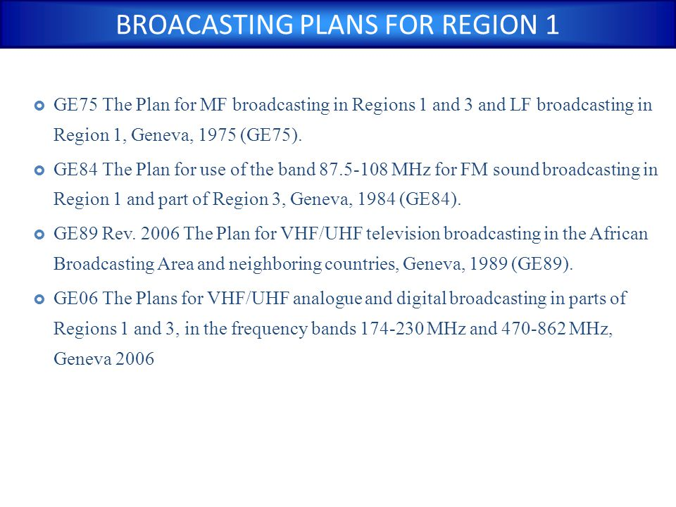 distances between the broadcasting station and the nearest point on the boundary of any other administration shall be used to identify administrations whose sound broadcasting services may be considered as affected Pb : Nearest point to border Border BC Station Country Y Country X BC to BC/BT Coordination distance