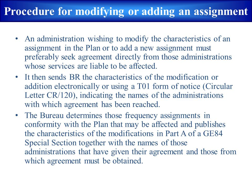  BCBT2ABT: Item to calculate interference caused by an analogue TV assignment or a digital BCBT Plan Entry to analogue TV assignments  All linked assignments and/or associated allotment belonging to the wanted digital broadcasting assignment/allotment, based on its plan entry code, are considered by software for calculation of nuisance field strengths  Interference is calculated at each service area test point of victim assignments and the maximum value of interference among all test points of a victim assignment is considered BCBT2ABT from(1)
