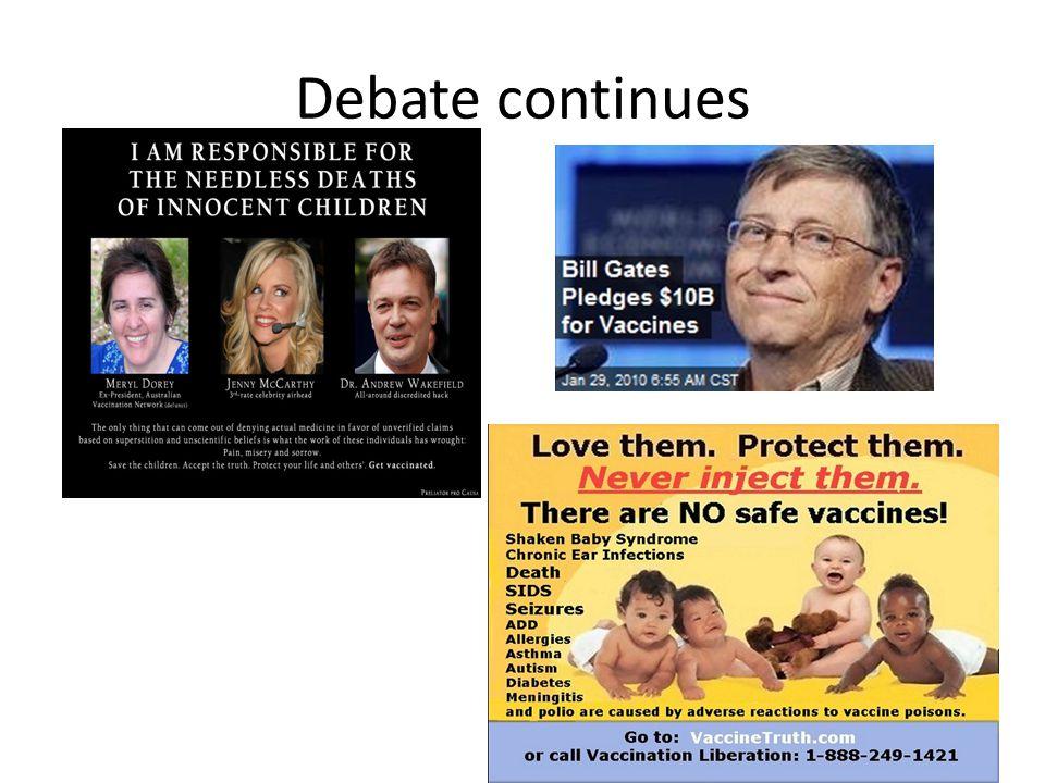 Debate continues