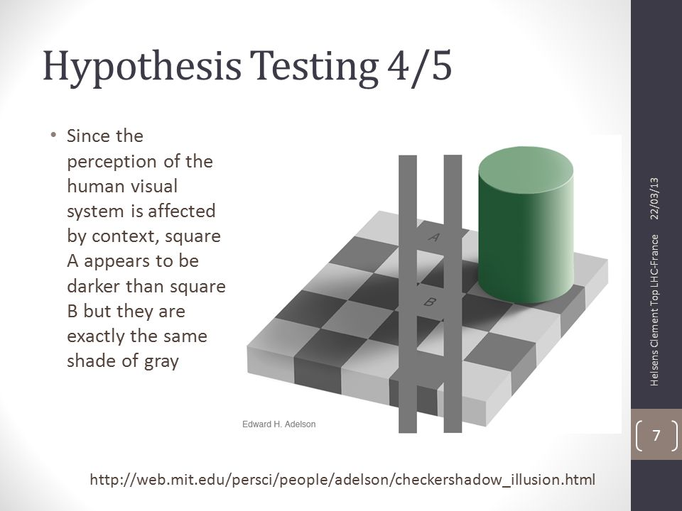 Hypothesis Testing 5/5 So proving one hypothesis is wrong does not mean the proposed alternative must right For example, search for highly energetic processes (like heavy- quarks) Use inclusive distributions like H T (Σp T ) If discrepancies observed in the tails of HT, does this necessarily means we have new physics.