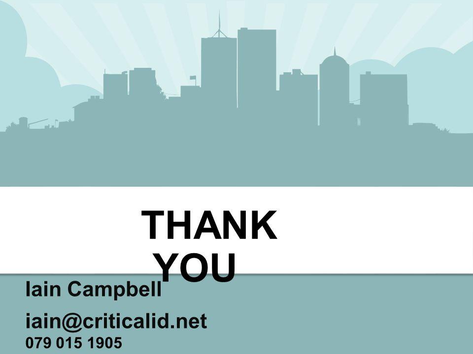 Iain Campbell iain@criticalid.net THANK YOU 079 015 1905