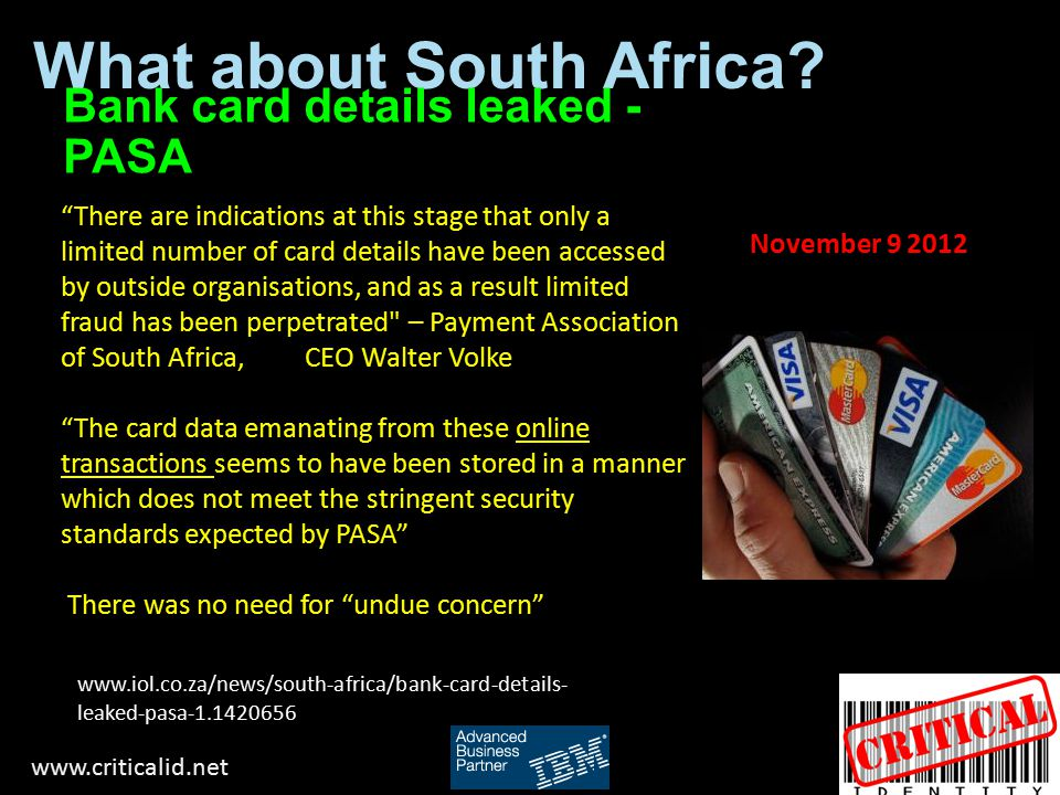 What about South Africa.