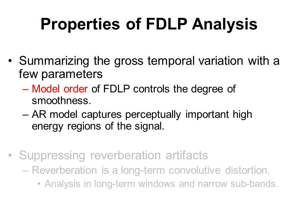 Resolution of FDLP Analysis FDLP Mel
