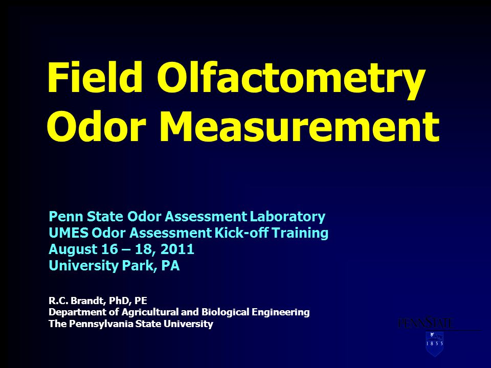 Questions.Take-Home Point Field olfactometry works.