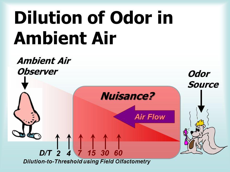 Field Olfactometry D/T versus Time