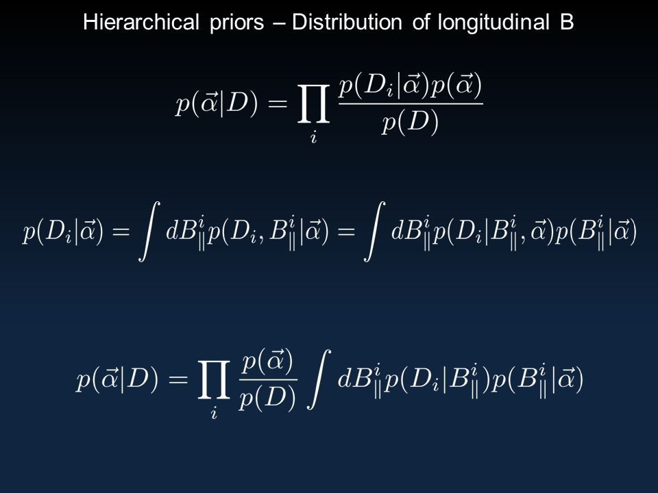 Hierarchical priors – Distribution of longitudinal B