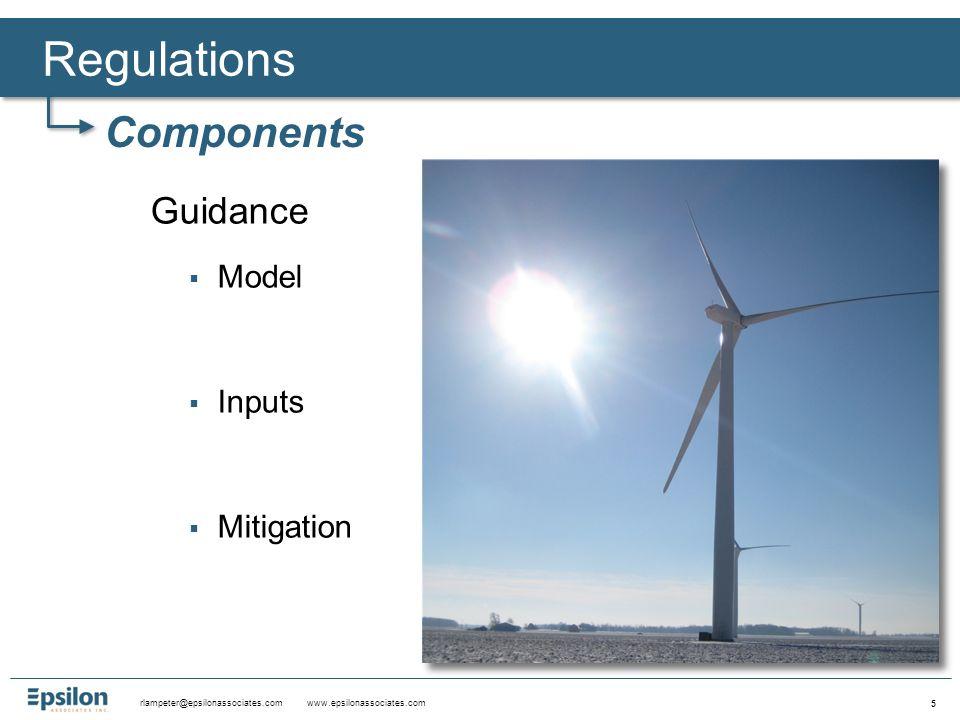 rlampeter@epsilonassociates.com www.epsilonassociates.com 6 ►Regulations - Components Study Required LimitsLocationGuidance