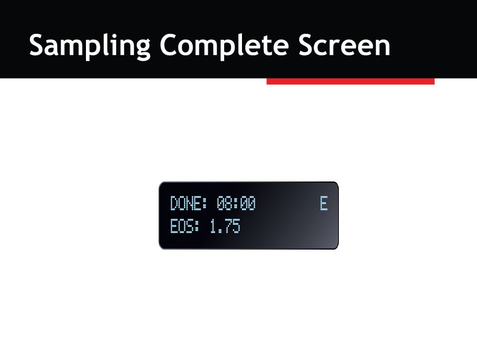 Sampling Complete Screen