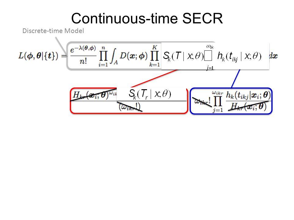 Continuous-time SECR Discrete-time Model