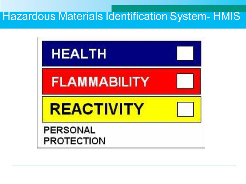 Hazardous Materials Identification System- HMIS