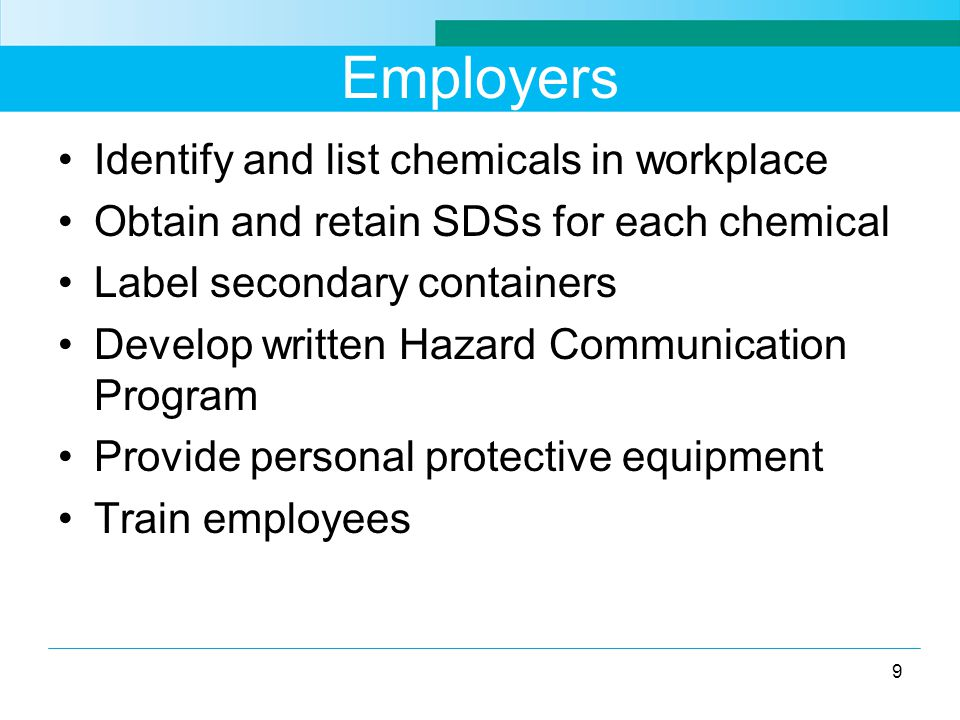 GHS Health Hazards Acute toxicity Skin corrosion/irritation Serious eye damage/irritation Respiratory or skin sensitization Germ cell mutagenicity Carcinogenicity Reproductive toxicity Specific target organ toxicity Aspiration hazard Simple asphyxiant (OSHA) 20