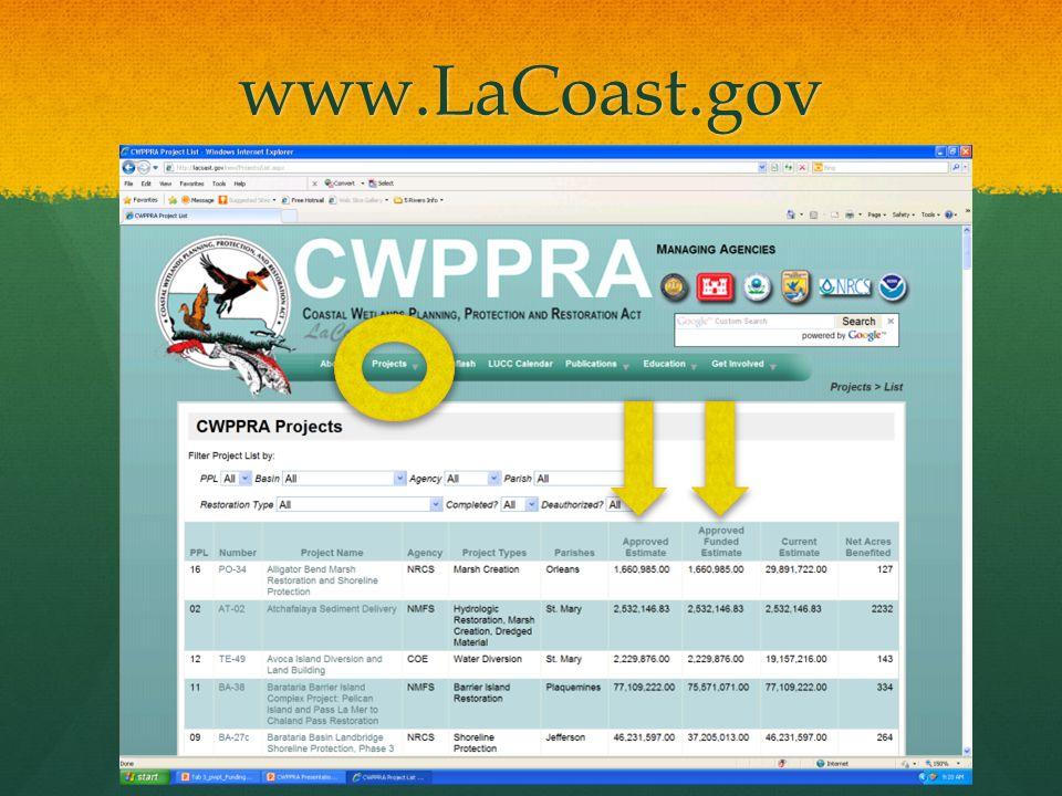 www.LaCoast.gov