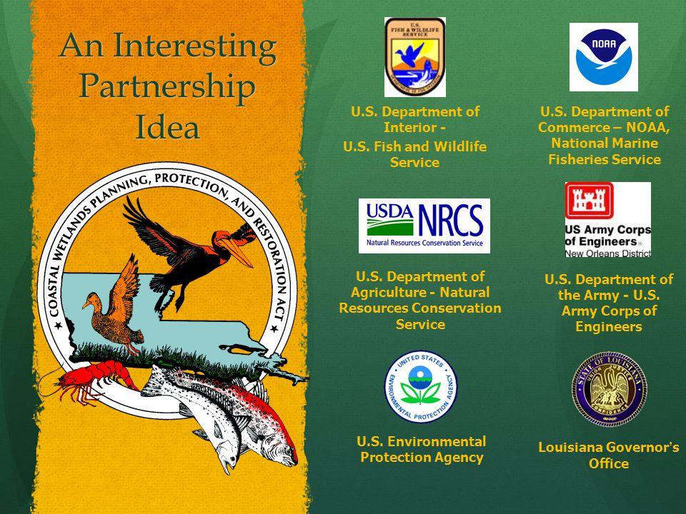 An Interesting Partnership Idea U.S. Department of Interior - U.S.