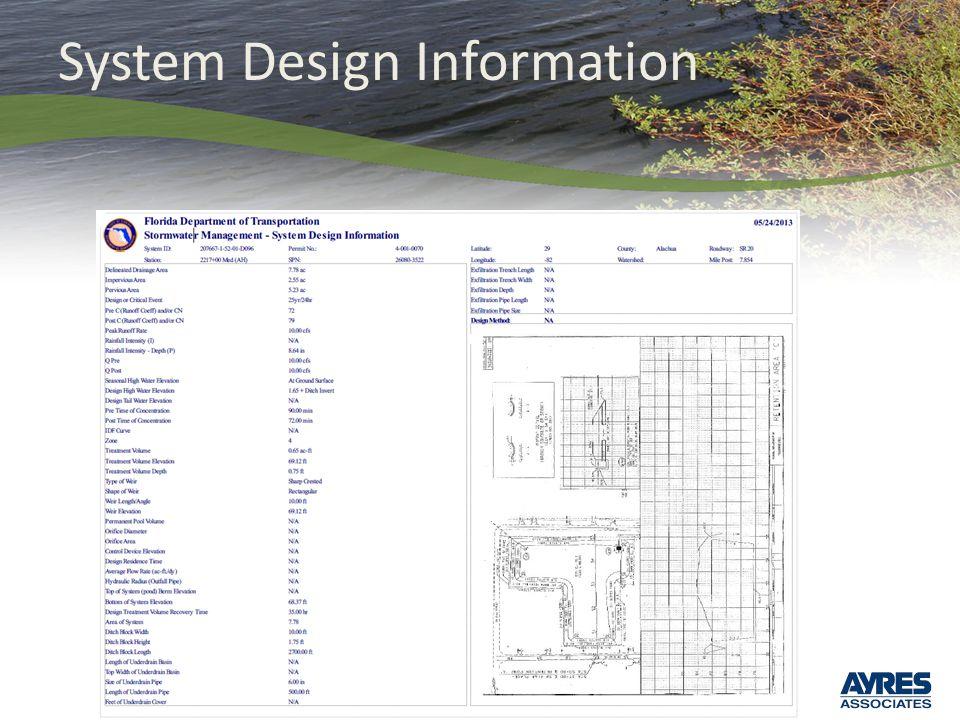 System Design Information