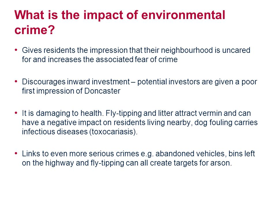 What is the impact of environmental crime.