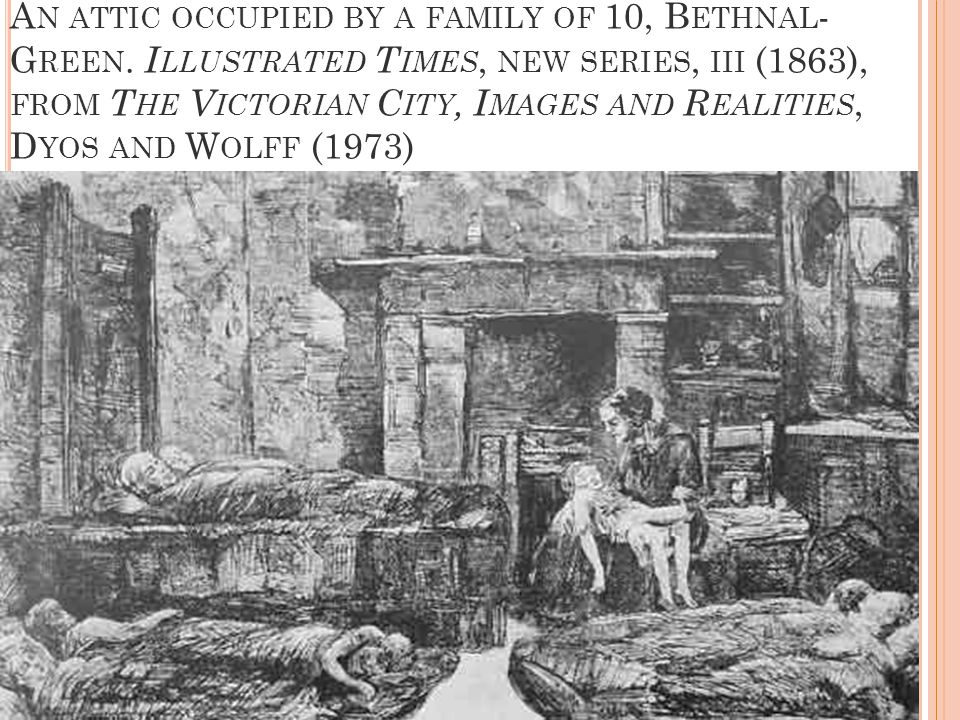A N ATTIC OCCUPIED BY A FAMILY OF 10, B ETHNAL - G REEN.