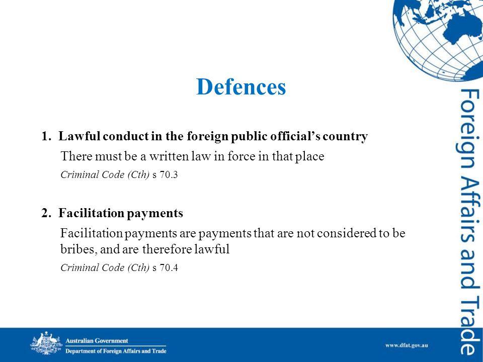 Defences 1.