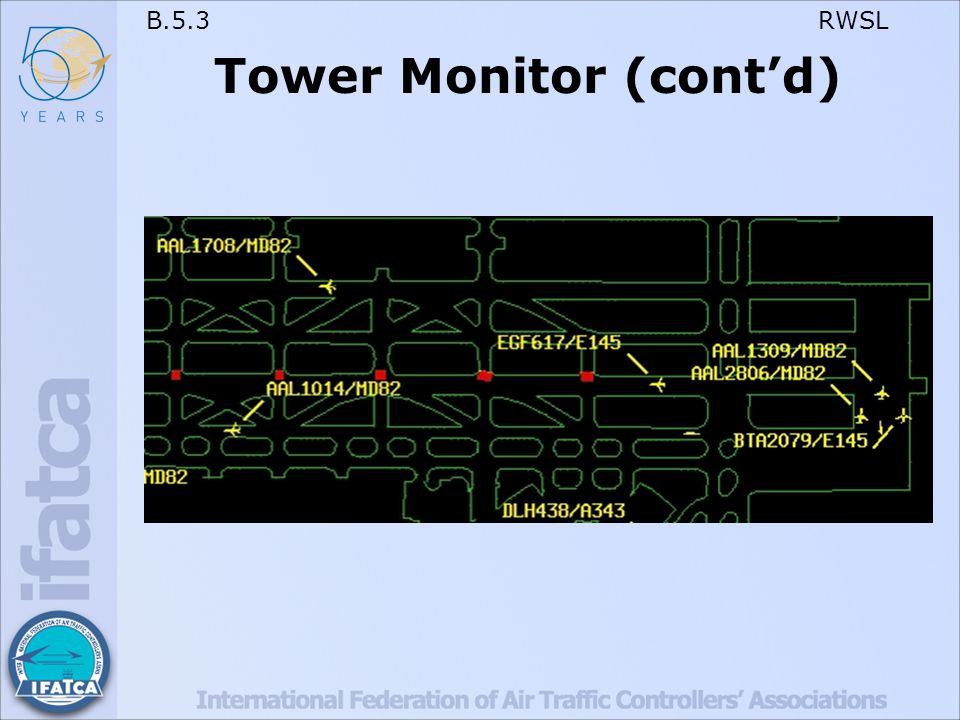 B.5.3 RWSL Tower Monitor (cont'd)