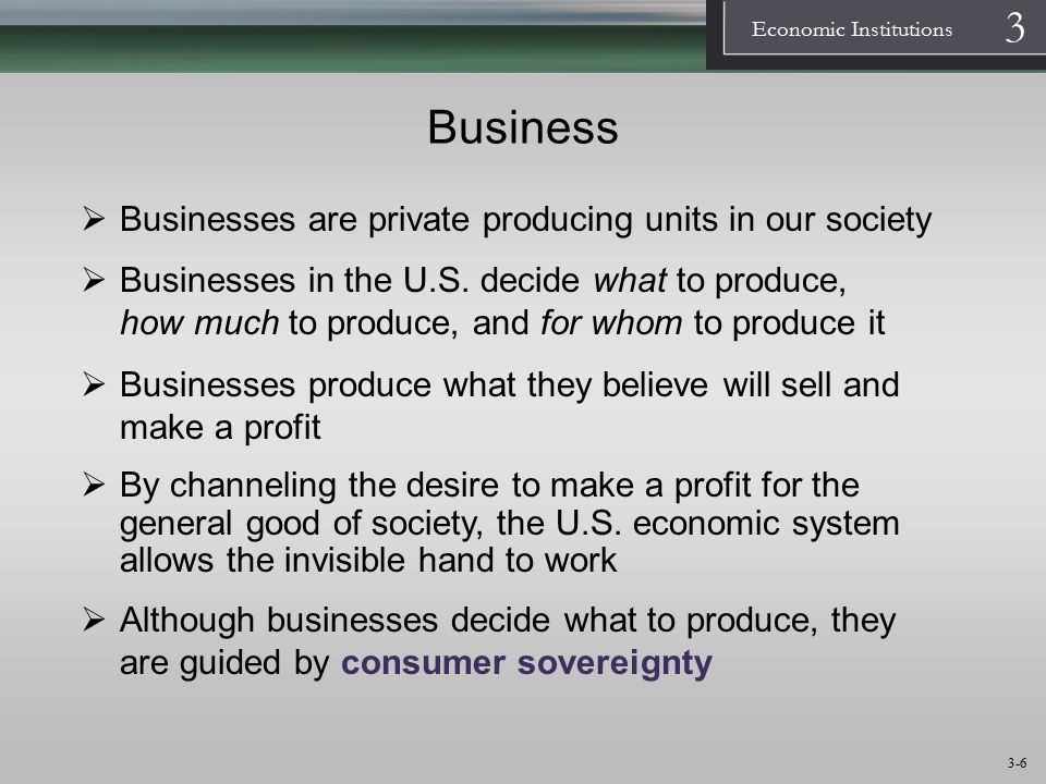 1 Economic Institutions 3 3-7 Business: Forms of Business