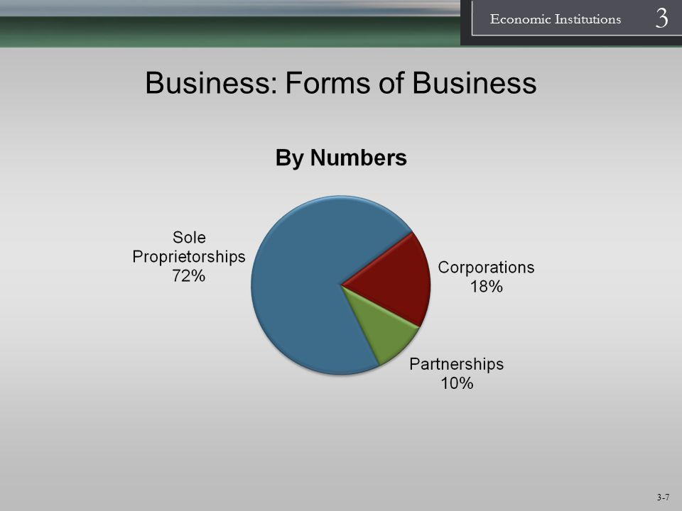 1 Economic Institutions 3 3-8 Business: Forms of Business