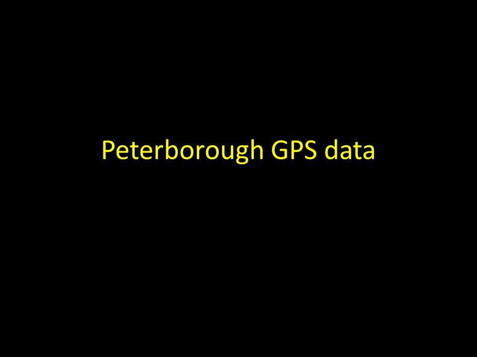 Peterborough GPS data