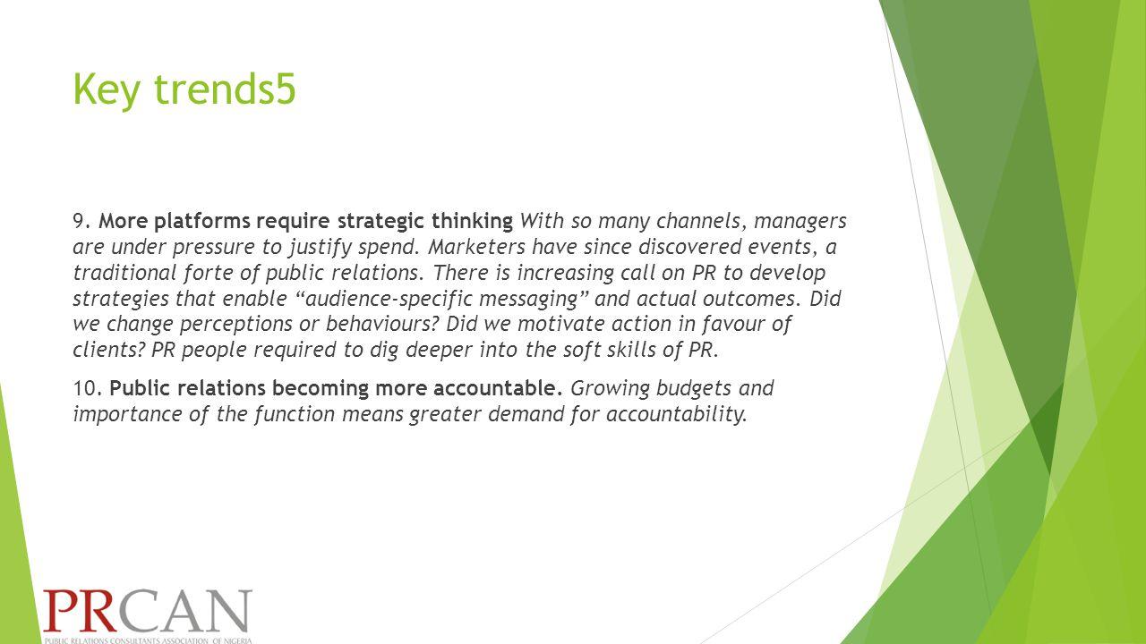 Key trends5 9.