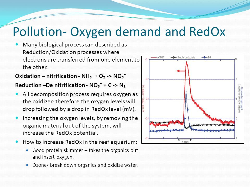 Pollution- Oxygen demand and RedOx Many biological process can described as Reduction/Oxidation processes where electrons are transferred from one ele
