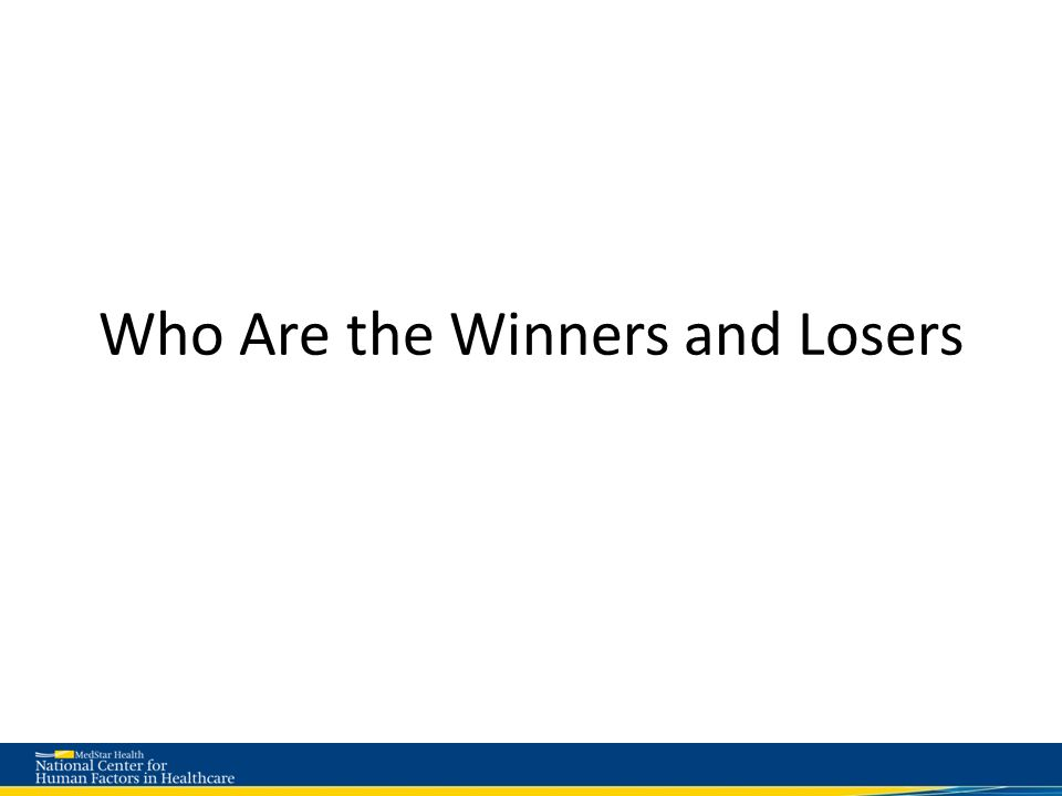 Who Are the Winners and Losers