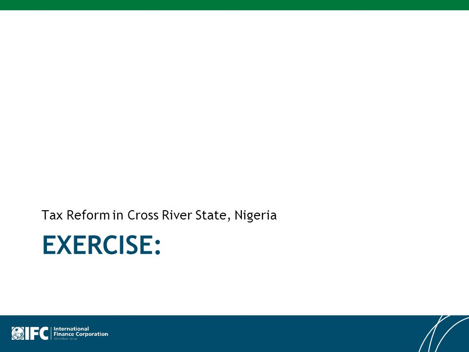 EXERCISE: Tax Reform in Cross River State, Nigeria