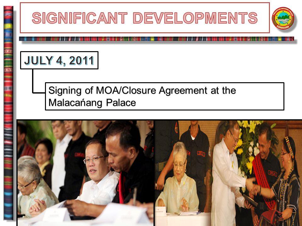 Signing of MOA/Closure Agreement at the Malacańang Palace