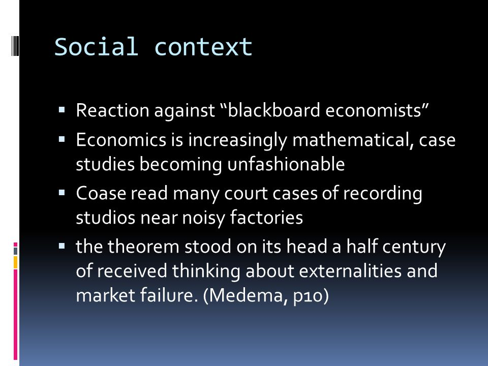 References  Coase (1960)  David Friedman, The Swedes Get It Right, (1991).
