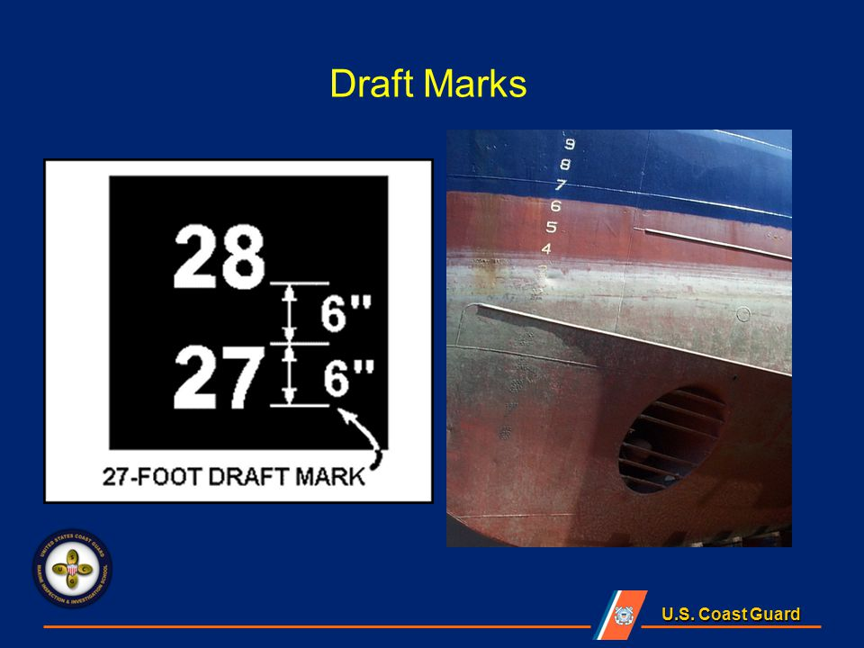 U.S. Coast Guard Draft Marks