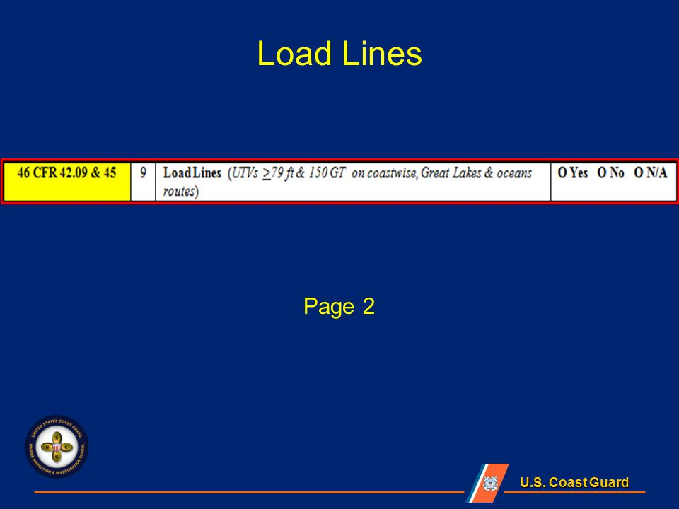 U.S. Coast Guard Load Lines Page 2