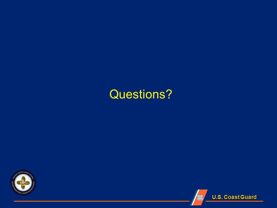 U.S. Coast Guard Questions
