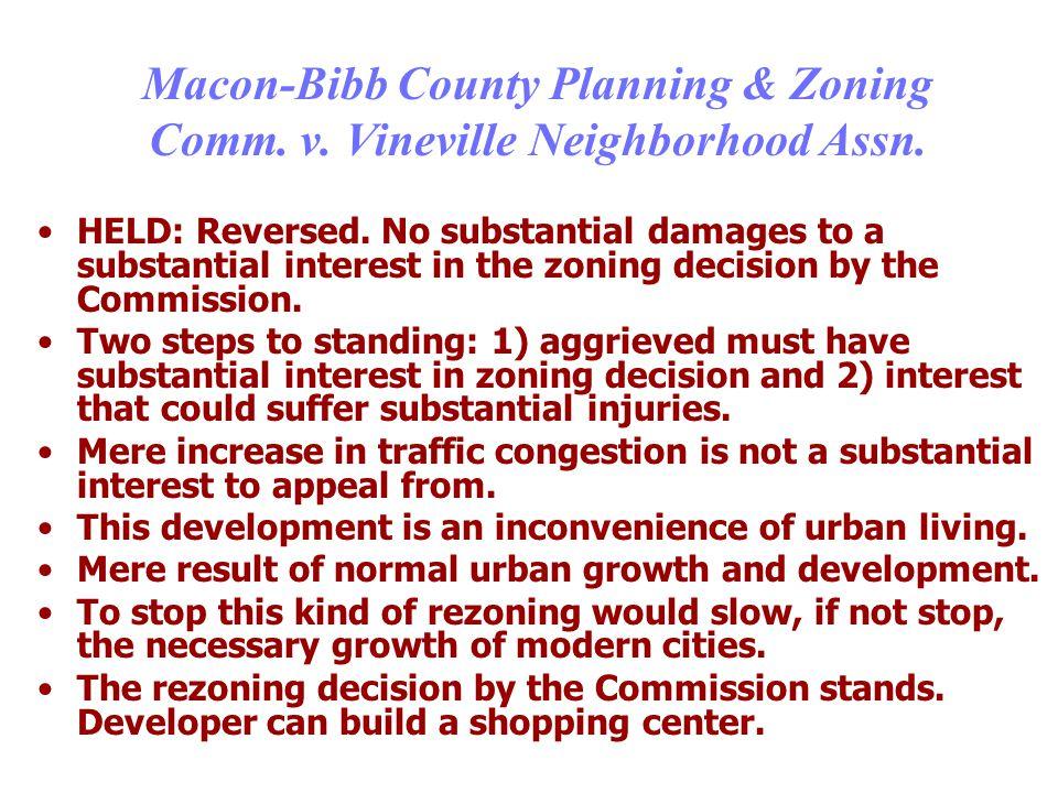 Macon-Bibb County Planning & Zoning Comm. v. Vineville Neighborhood Assn.