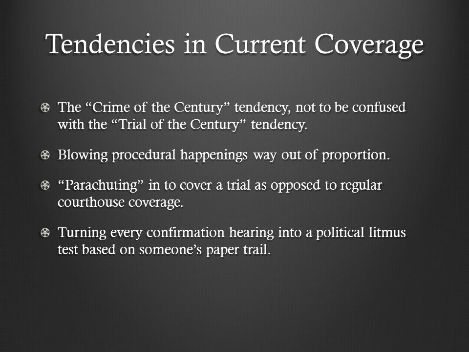 Tendencies in Current Coverage Stoking the originalist v.